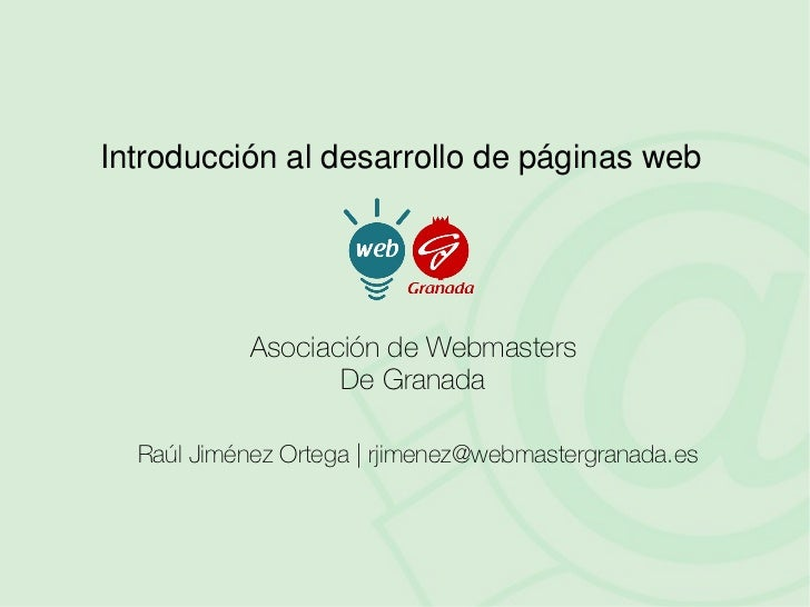 Introd. Al Desarrollo Web