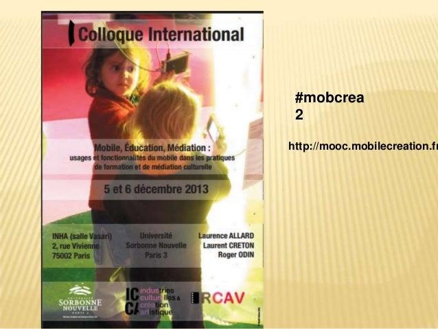 #mobcrea 2  http://mooc.mobilecreation.fr