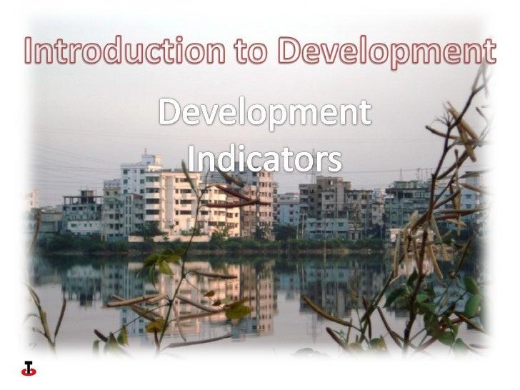 Introduction to development indicators
