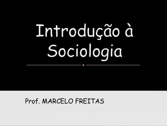 Introduçao a sociologia