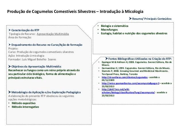  Caracterização do RTP Tipologia de Recurso: Apresentação Multimédia Área de Formação:  Enquadramento do Recurso no Curs...