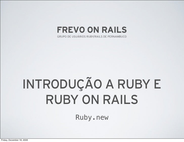 Introdução a Ruby
