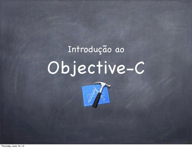 Introdução ao Objective-C