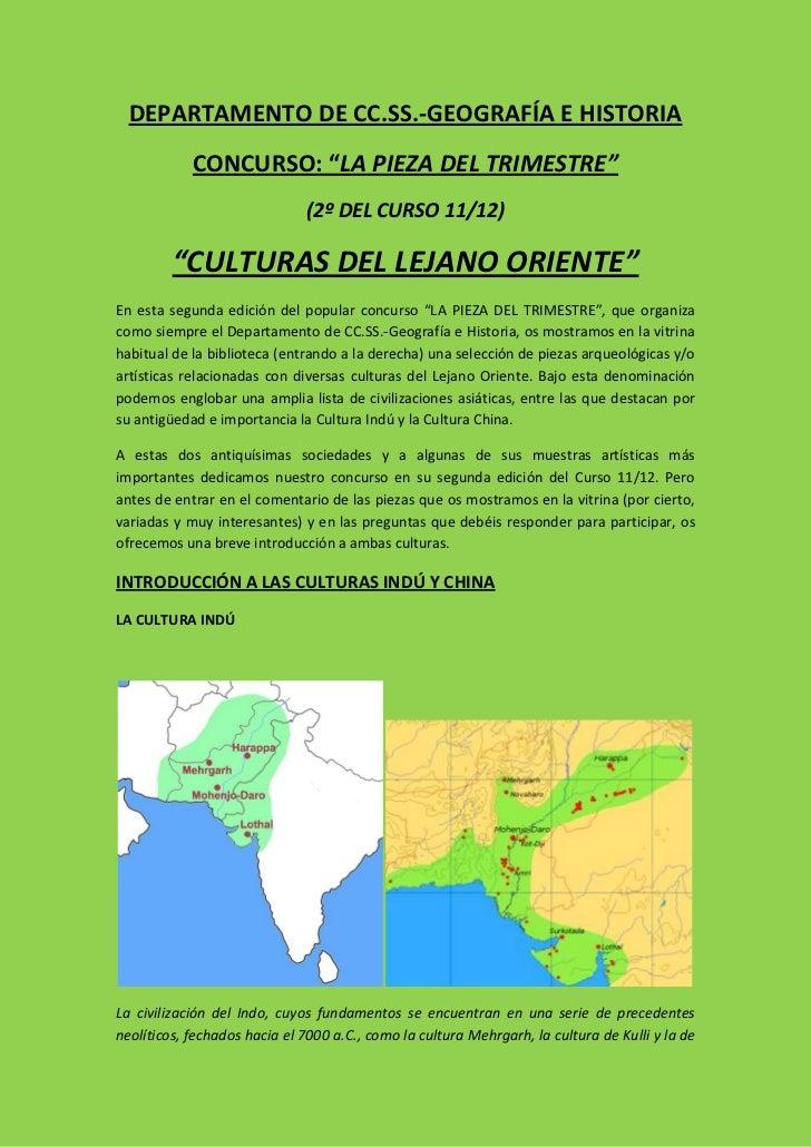 "DEPARTAMENTO DE CC.SS.-GEOGRAFÍA E HISTORIA            CONCURSO: ""LA PIEZA DEL TRIMESTRE""                              (2º..."
