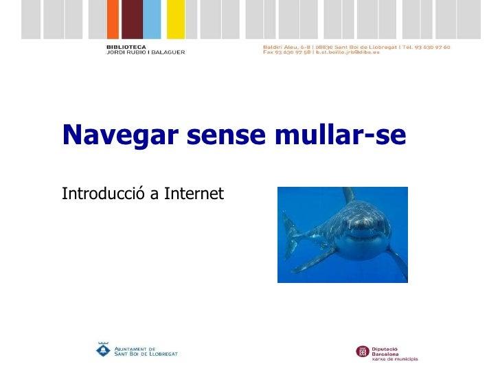 Navegar  sense  mullar-se Introducció  a Internet