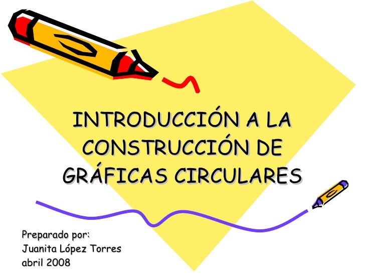 INTRODUCCIÓN A LA CONSTRUCCIÓN DE GRÁFICAS CIRCULARES Preparado por: Juanita López Torres abril 2008