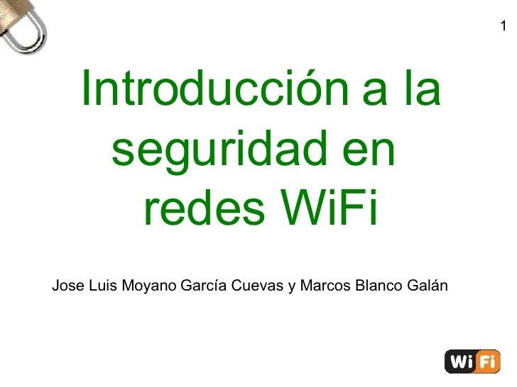 Introducción a la seguridad en redes inalámbricas