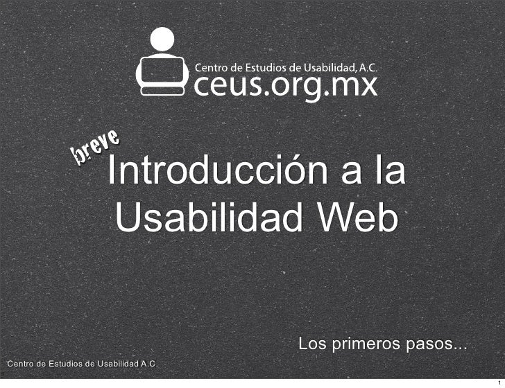 Introducción a la Usabilidad Web