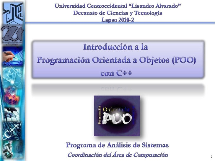 """Universidad Centroccidental """"Lisandro Alvarado""""<br />Decanato de Ciencias y Tecnología<br />Lapso 2010-2<br />Introducción..."""