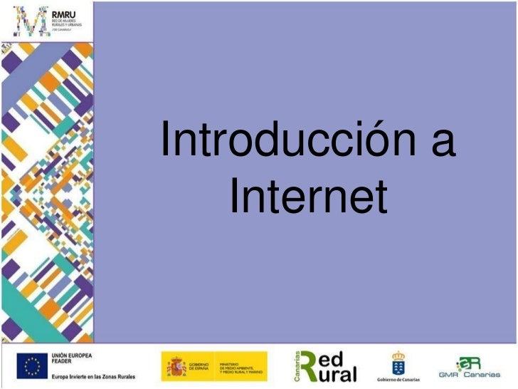 Introducción a Internet<br />