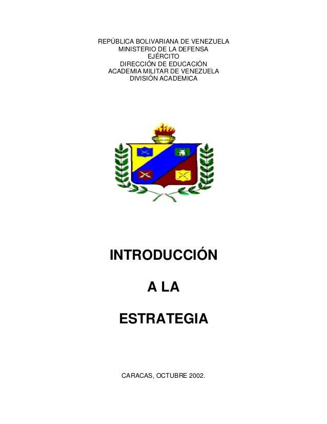 REPÚBLICA BOLIVARIANA DE VENEZUELAMINISTERIO DE LA DEFENSAEJÉRCITODIRECCIÓN DE EDUCACIÓNACADEMIA MILITAR DE VENEZUELADIVIS...