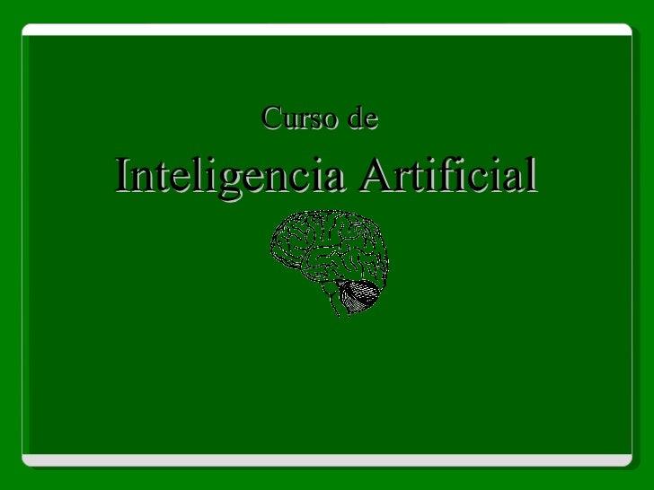 Curso de Inteligencia Artificial