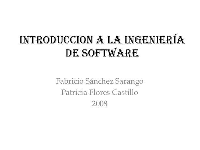 Introducción a la ingeniería en software