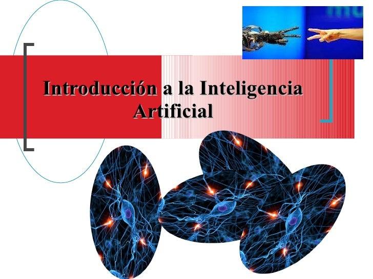 Introducción a la inteligencia artificial   profesora iris albarran