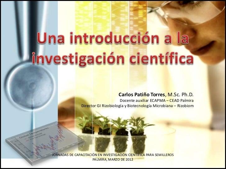 Introducción a la investigación científica