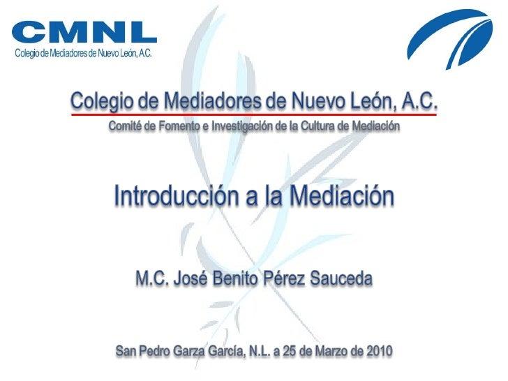 Introducción a la Mediación