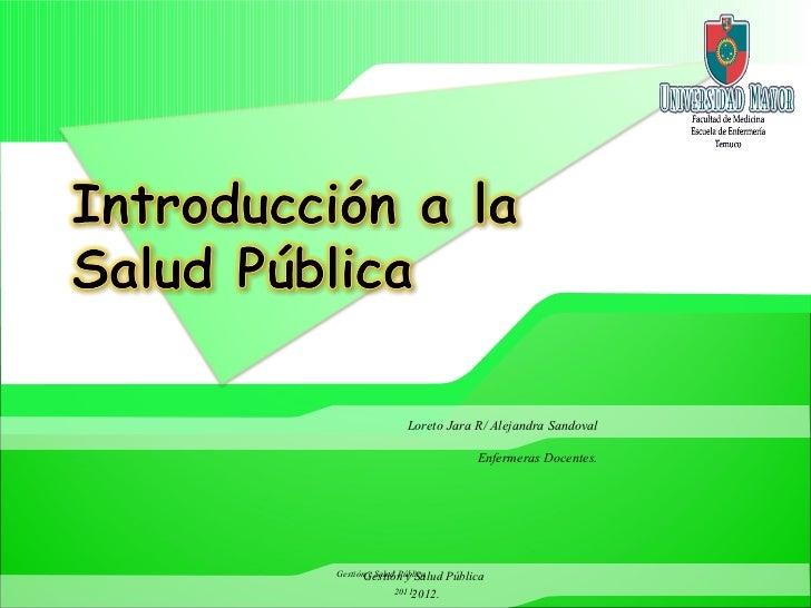 Introducción a la salud pública 2012