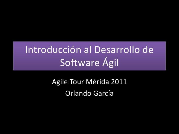 Introducción al desarrollo de software ágil