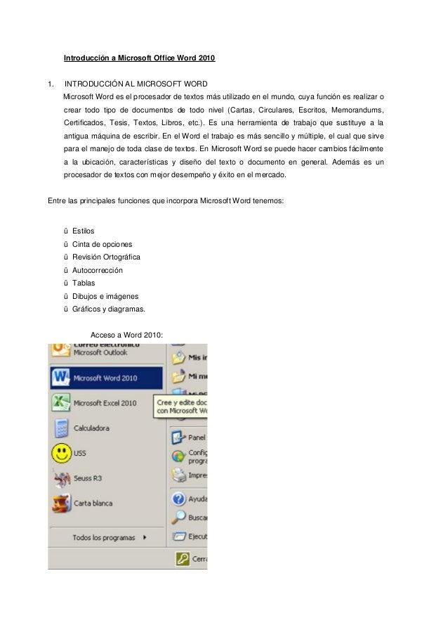 Introducción a microsoft office word
