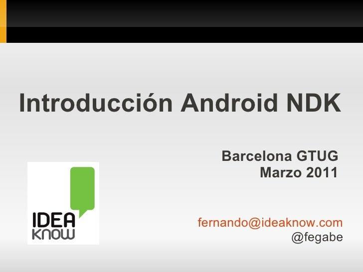 Introducción Android NDK