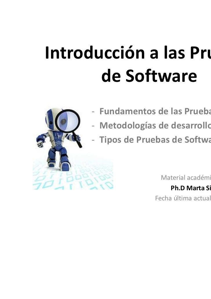 Introducción de pruebas de software