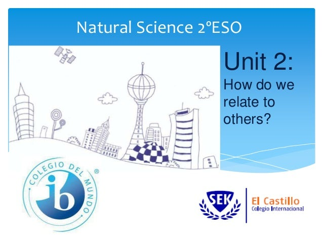 Natural Science 2ºESO Unit 2: How do we relate to others?
