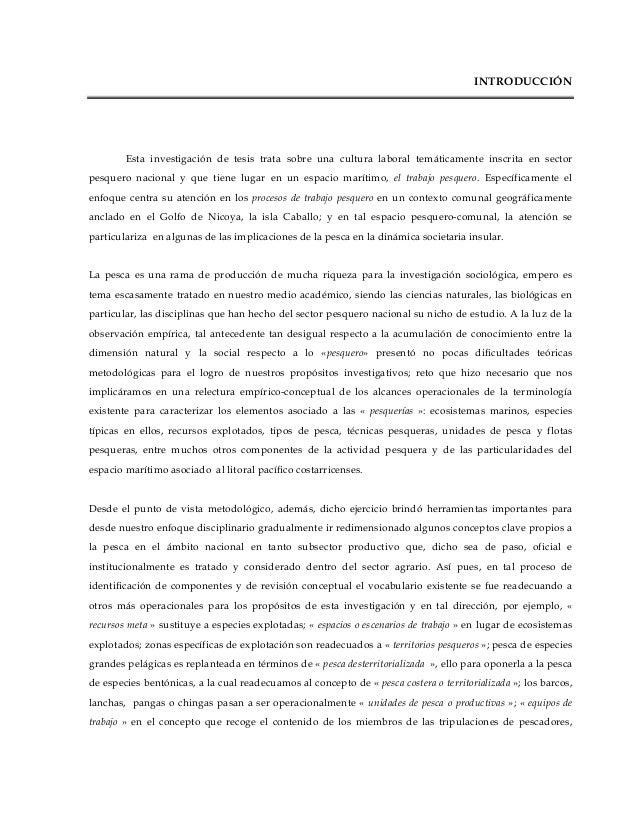 Introducción pesca y procesos de trabajo: el caso de los pescadores de isla caballo. golfo de nicoya. costa rica
