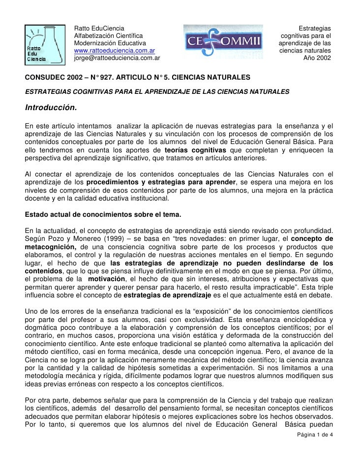 Ratto EduCiencia                                                          Estrategias                Alfabetización Cientí...