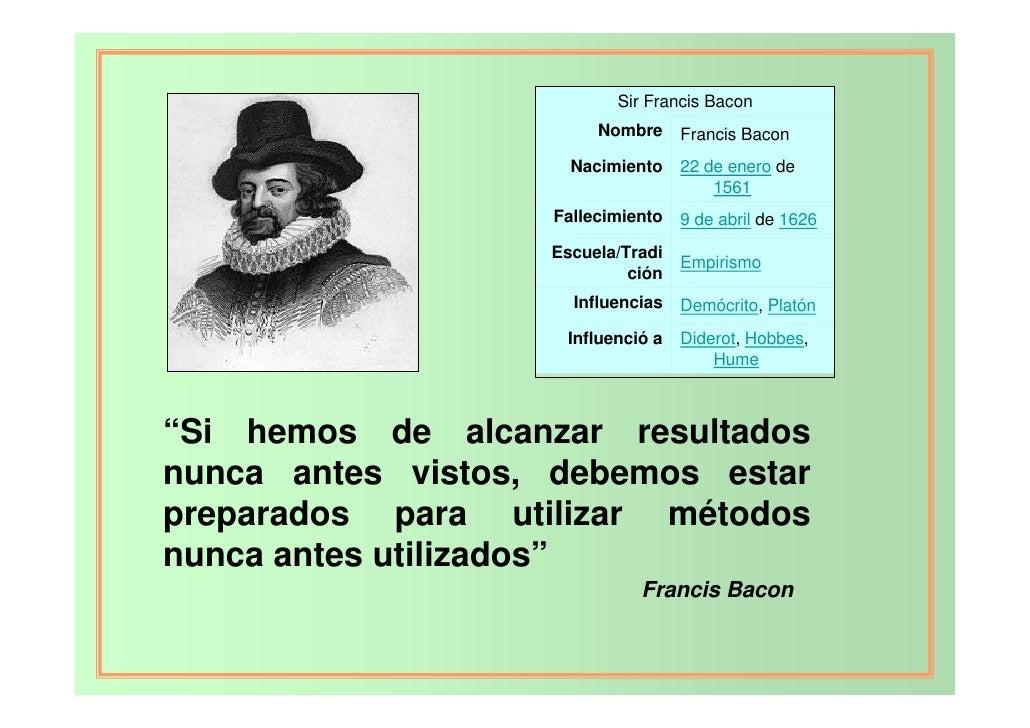 Sir Francis Bacon                        Nombre     Francis Bacon                     Nacimiento    22 de enero de        ...