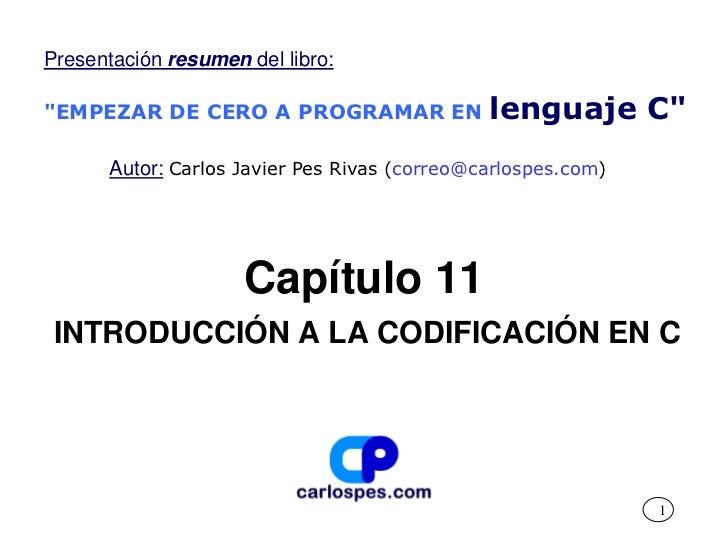 Introducción a la codificación en lenguaje C