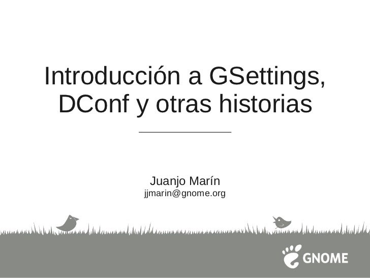 Introducción a gsettings