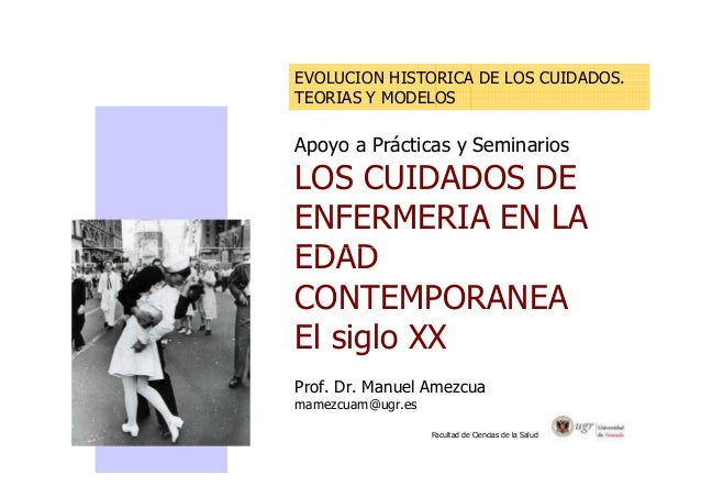 EVOLUCION HISTORICA DE LOS CUIDADOS.  TEORIAS Y MODELOS  Apoyo a Prácticas y Seminarios  LOS CUIDADOS DE  ENFERMERIA EN LA...
