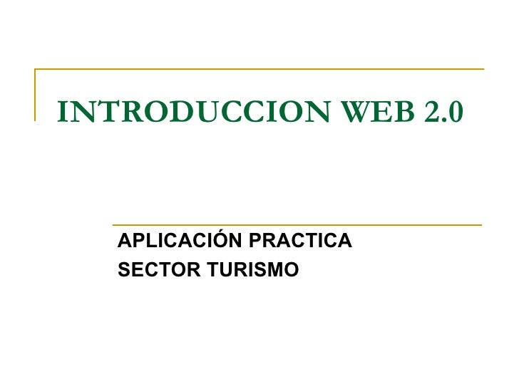 Introduccion Web 2.0 2º