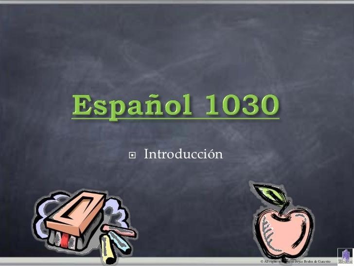    Introducción                   © All rights reserved to Joyce Bruhn de Garavito
