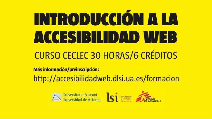 Curso Introduccion accesibilidad web