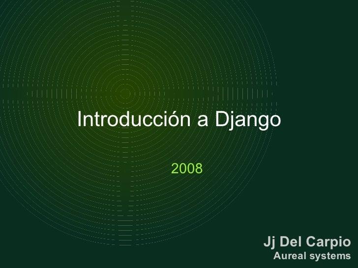 Introduccion a Django