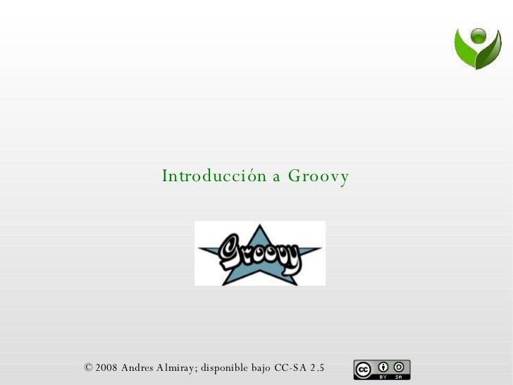 Introduccion A Groovy