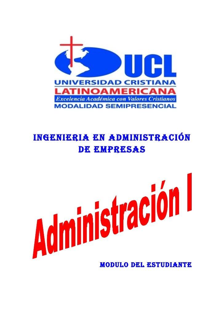 INGENIERIA EN ADMINISTRACIÓN         DE EMPRESAS                MODULO DEL ESTUDIANTE