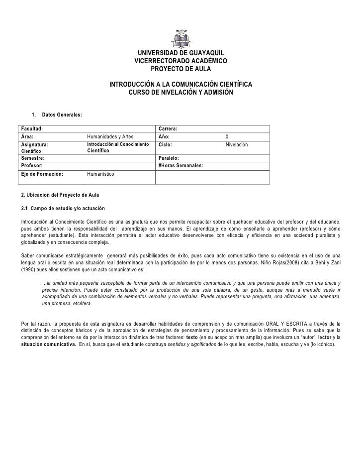 UNIVERSIDAD DE GUAYAQUIL                                                      VICERRECTORADO ACADÉMICO                    ...