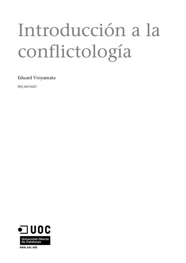 Introducción a laconflictologíaEduard VinyamataPID_00170237