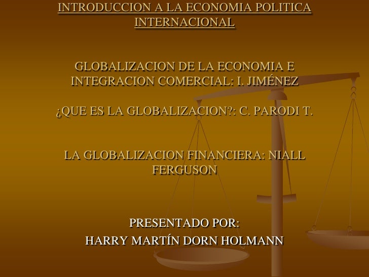Introduccion a la econom a politica internacional for La politica internacional