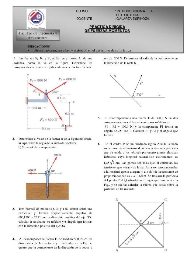 Introduccion a la estructura   fuerzas y momento