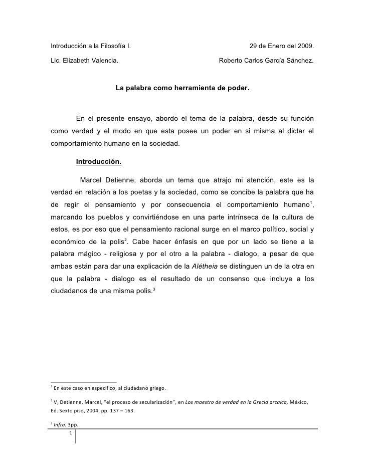 Introducción a la Filosofía I.                                                     29 de Enero del 2009.  Lic. Elizabeth V...