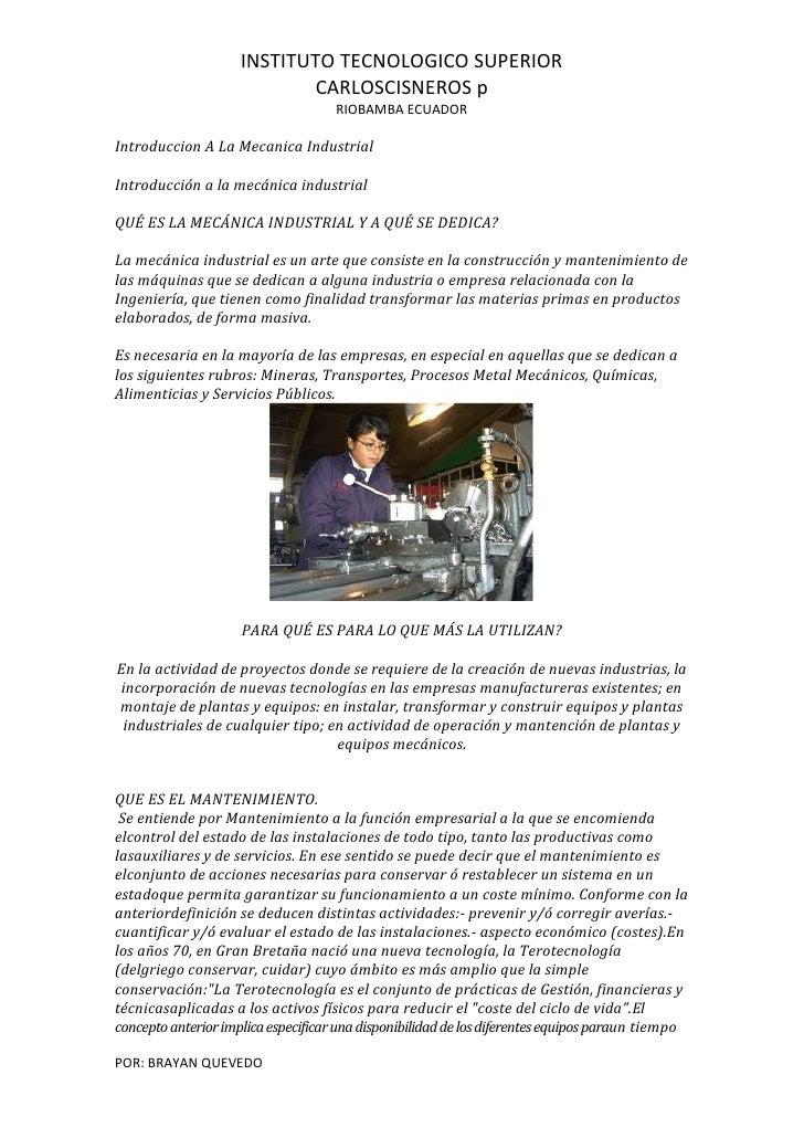 INSTITUTO TECNOLOGICO SUPERIOR                            CARLOSCISNEROS p                                     RIOBAMBA EC...