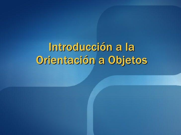 Introduccion A La Oop