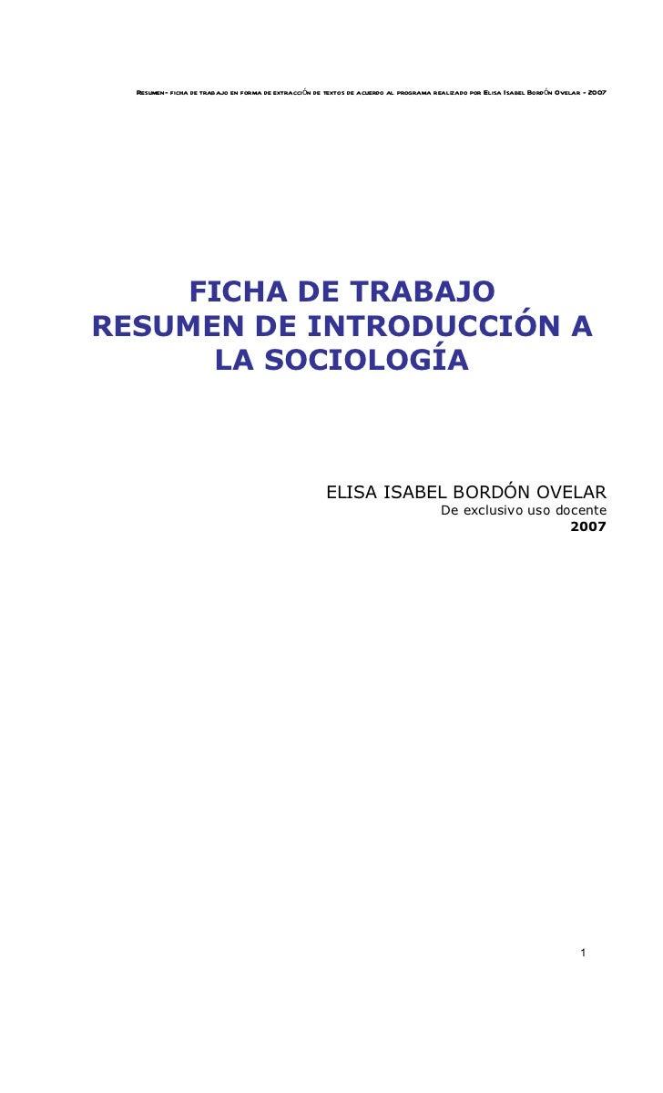 Resumen- ficha de trabajo en forma de extracción de textos de acuerdo al programa realizado por Elisa Isabel Bordó n Ovela...