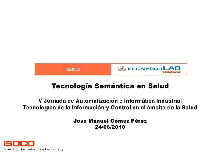 Tecnologías Semánticas en Salud