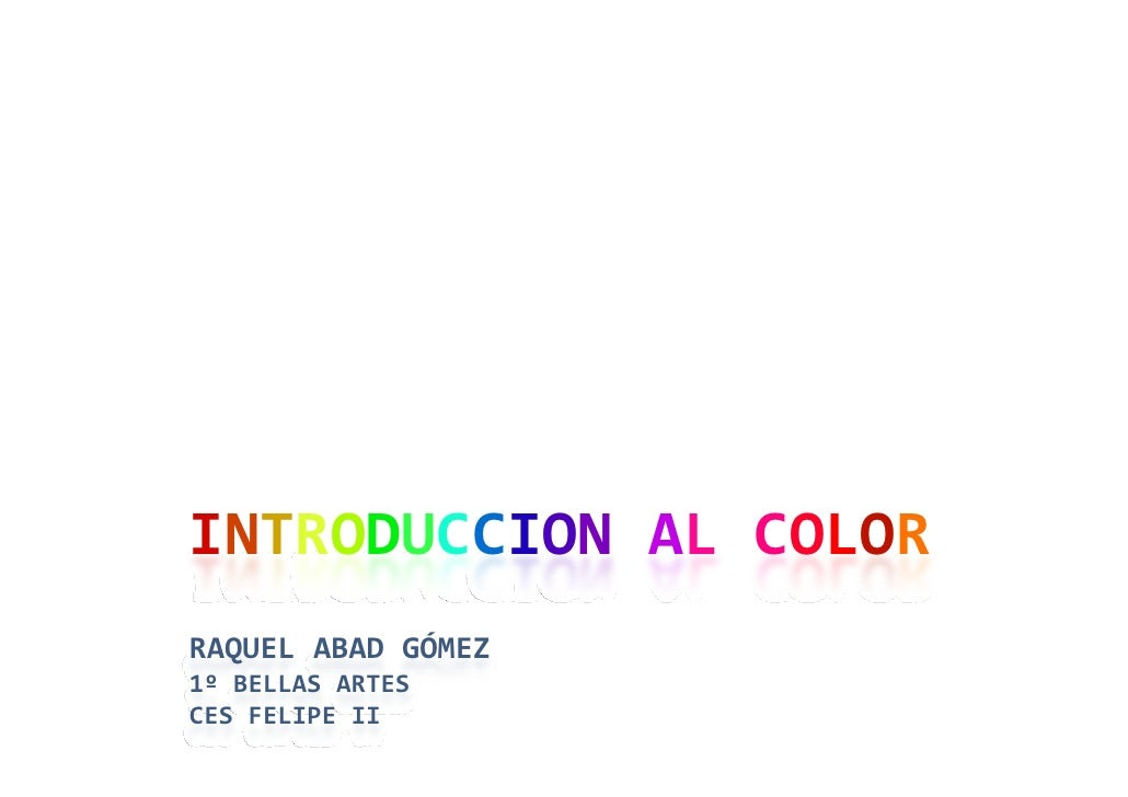 Introducción al color.