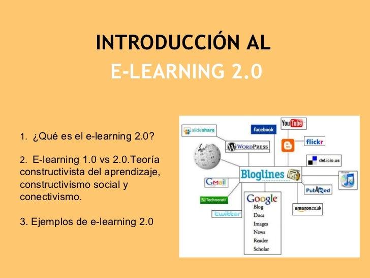 Introduccion al e learning 2.0
