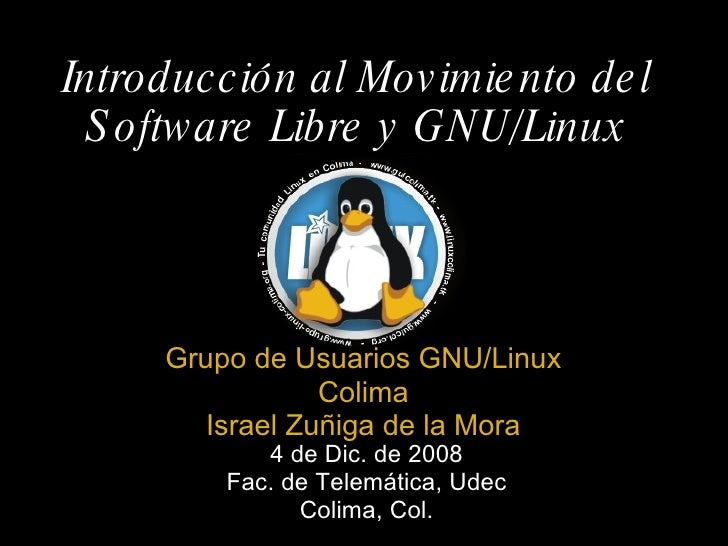 Introduccion Al Movimiento Del Software Libre